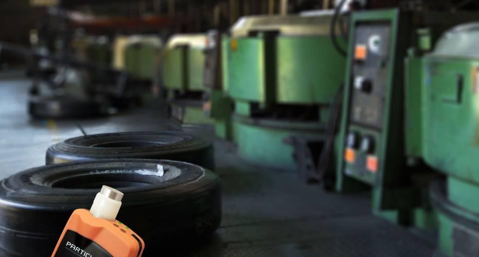 Mesure de particules dans la fabrication de pneus